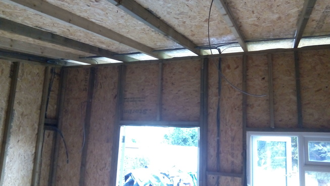 Electricity brought through roof joists